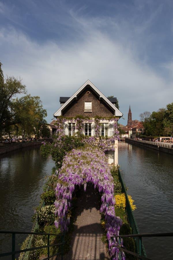 Όμορφο τοπίο στο Στρασβούργο, Γαλλία στοκ φωτογραφία
