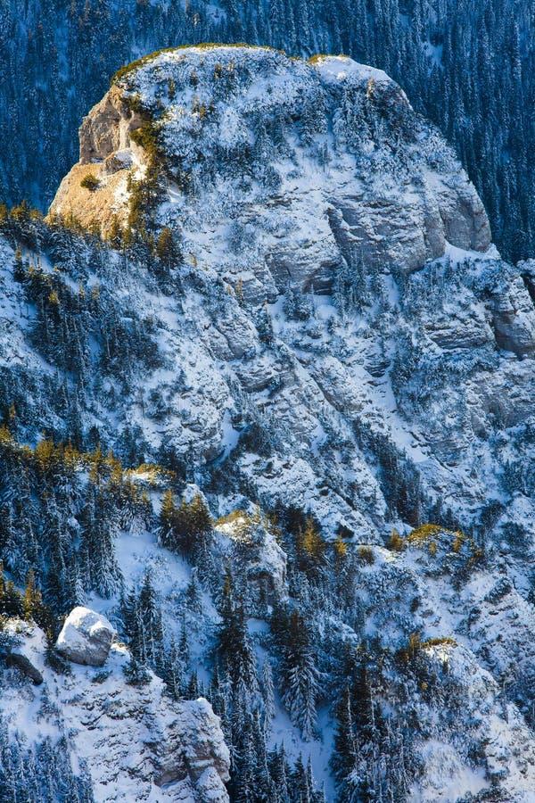 Όμορφο τοπίο του χειμερινού βράχου στοκ φωτογραφία