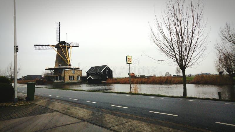 Όμορφο τοπίο windmeal στοκ φωτογραφία με δικαίωμα ελεύθερης χρήσης