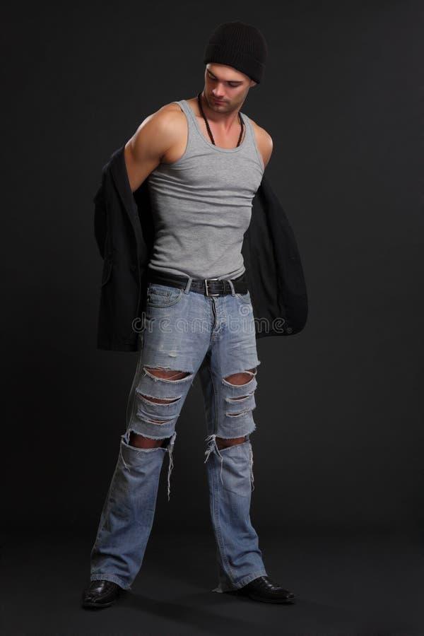 όμορφο το άτομο σακακιών τ στοκ εικόνες