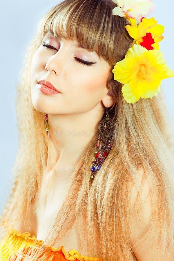 όμορφο τρίχωμα κοριτσιών λ& στοκ φωτογραφίες με δικαίωμα ελεύθερης χρήσης