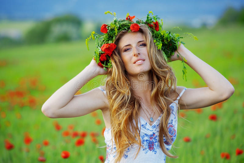 όμορφο τρίχωμα κοριτσιών στοκ εικόνες με δικαίωμα ελεύθερης χρήσης