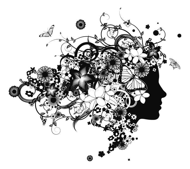 όμορφο τρίχωμα λουλουδ&i διανυσματική απεικόνιση