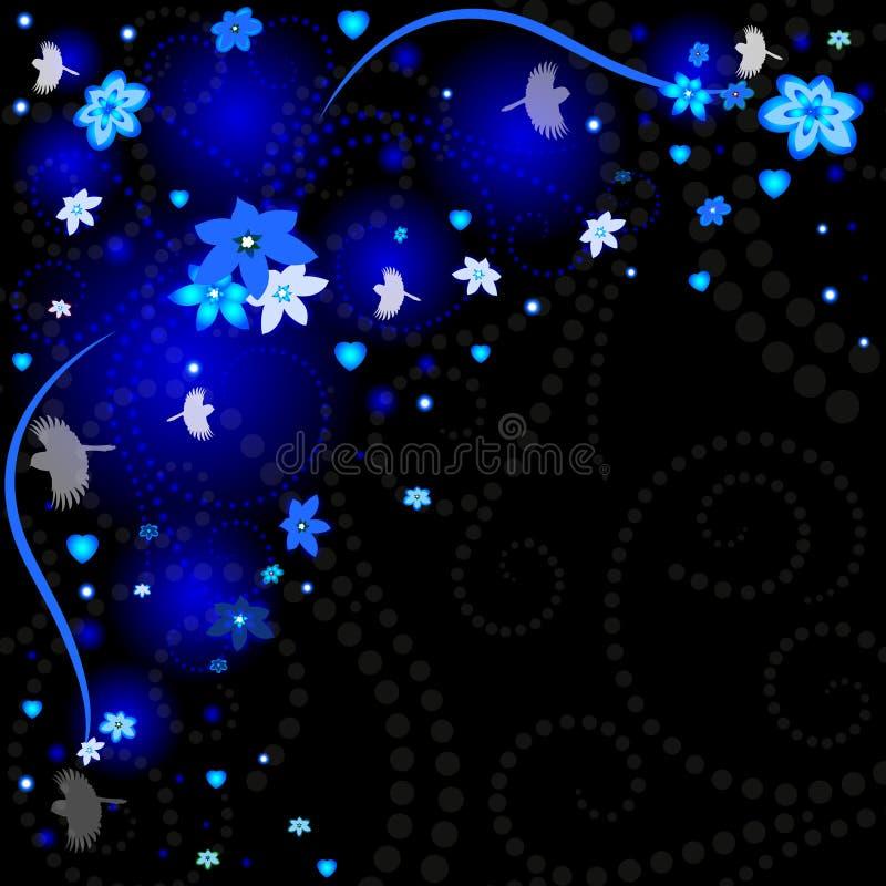 Όμορφο υπόβαθρο άνοιξη με τα λουλούδια ελεύθερη απεικόνιση δικαιώματος