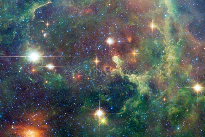 Όμορφο υπόβαθρο γαλαξιών με το νεφέλωμα, τη αίσθηση μαγείας και τα φωτεινά αστέρια διανυσματική απεικόνιση