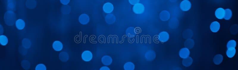 Όμορφο υπόβαθρο διακοπών PanoramicNavy μπλε με το φως bokeh διανυσματική απεικόνιση