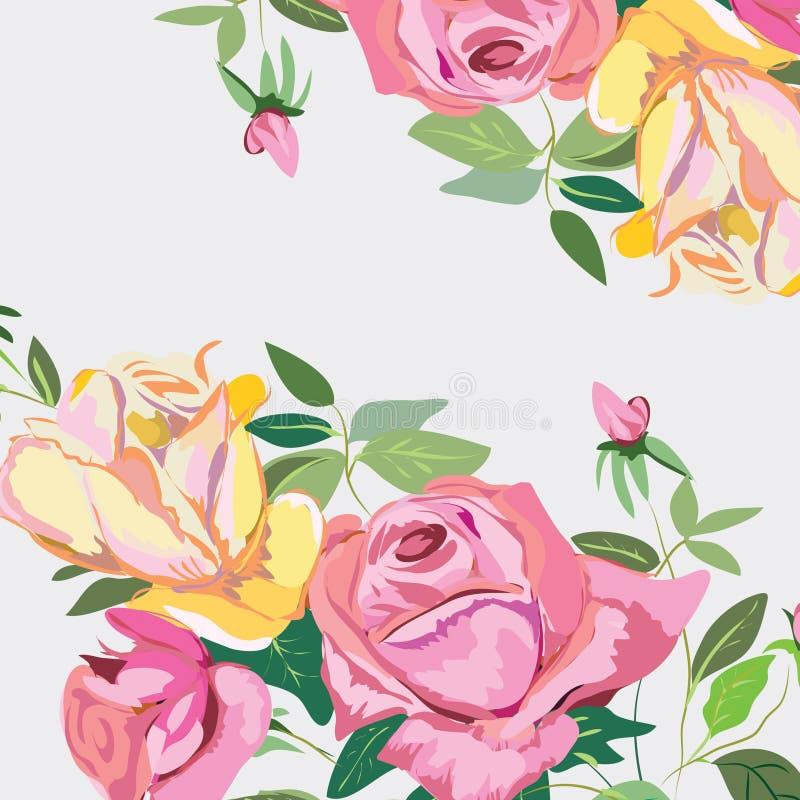 Όμορφο υπόβαθρο των τριαντάφυλλων διανυσματική απεικόνιση
