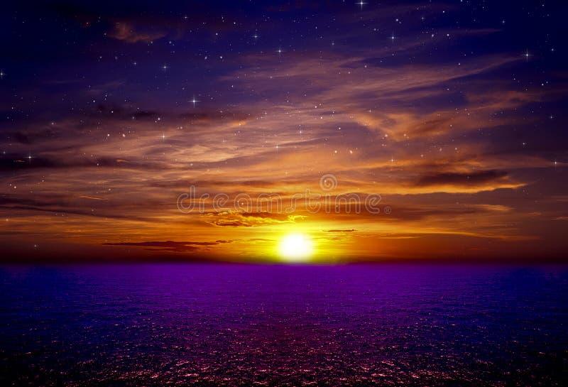 Όμορφο υπόβαθρο φύσης θάλασσας δονούμενο στοκ εικόνες