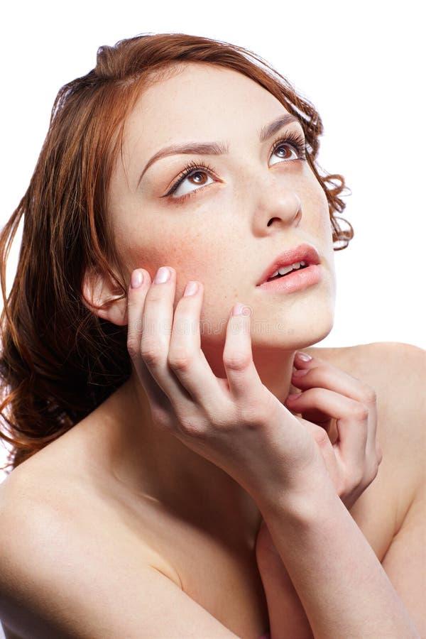 Download όμορφο φακιδοπρόσωπο κο& στοκ εικόνες. εικόνα από makeup - 17052358