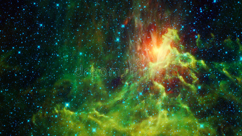Όμορφο φωτεινό γαλαξιακό νεφέλωμα διανυσματική απεικόνιση