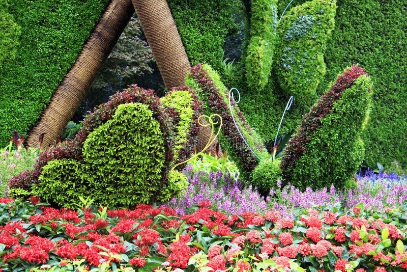 Όμορφο φύλλο πεταλούδων στον κήπο στοκ φωτογραφία