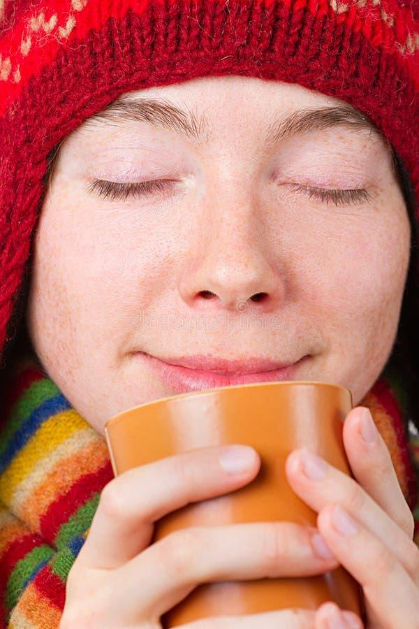 Όμορφο χαμογελώντας κορίτσι στα χειμερινά ενδύματα στοκ φωτογραφία με δικαίωμα ελεύθερης χρήσης