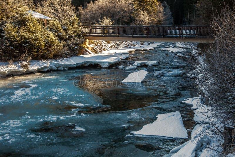 Όμορφο χειμερινό τοπίο κοντά στον καταρράκτη Krimml, Αυστρία στοκ φωτογραφίες με δικαίωμα ελεύθερης χρήσης
