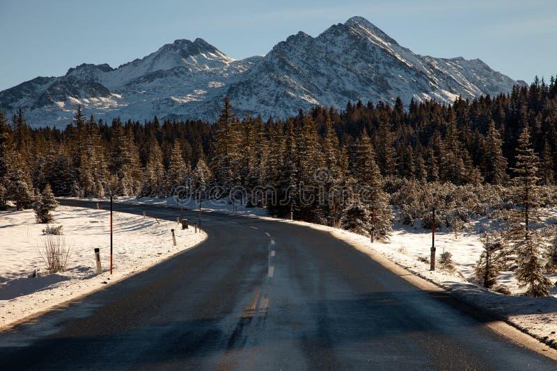 Όμορφο χειμερινό τοπίο στο δρόμο στον καταρράκτη Krimml, Αυστρία στοκ φωτογραφία με δικαίωμα ελεύθερης χρήσης