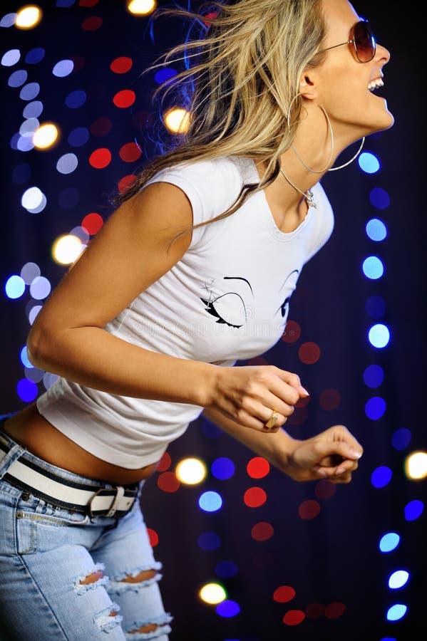 όμορφο χορεύοντας θηλυ&kap στοκ εικόνα
