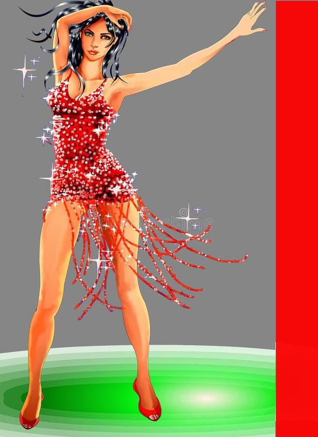 όμορφο χορεύοντας μοντέλο ελεύθερη απεικόνιση δικαιώματος