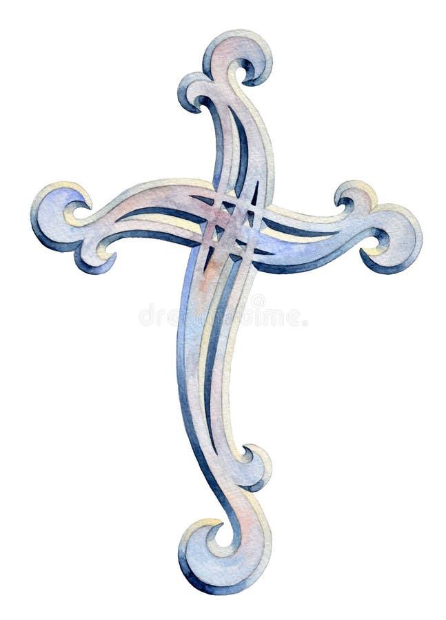 Όμορφο χριστιανικό διαγώνιο σχέδιο διακοσμήσεων απεικόνιση αποθεμάτων
