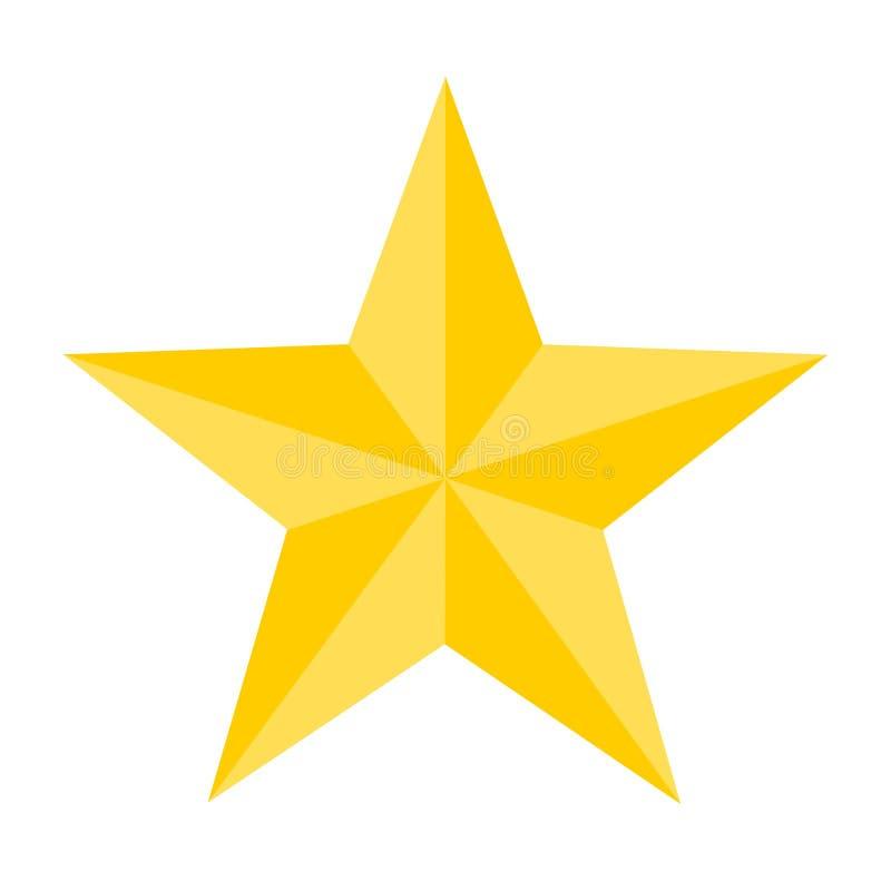 Όμορφο χρυσό αστέρι που απομονώνεται - PNG διανυσματική απεικόνιση