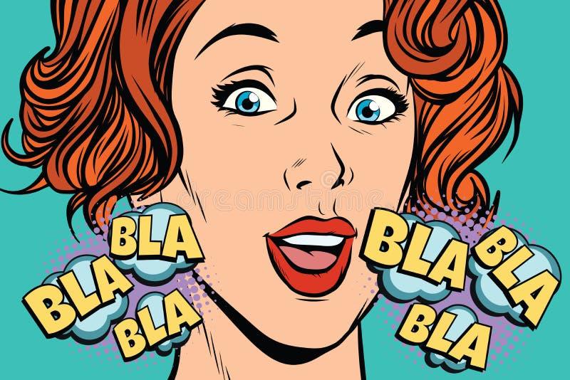 Όμορφο bla bla γυναικών απεικόνιση αποθεμάτων