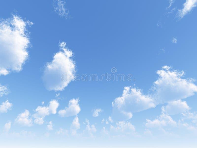 όμορφο cloudscape διανυσματική απεικόνιση