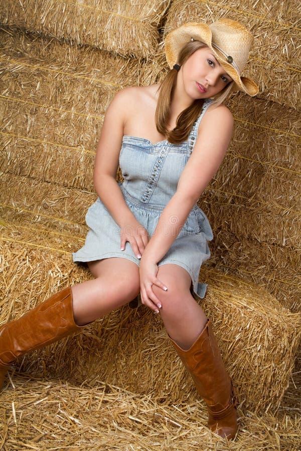 όμορφο cowgirl στοκ εικόνα με δικαίωμα ελεύθερης χρήσης