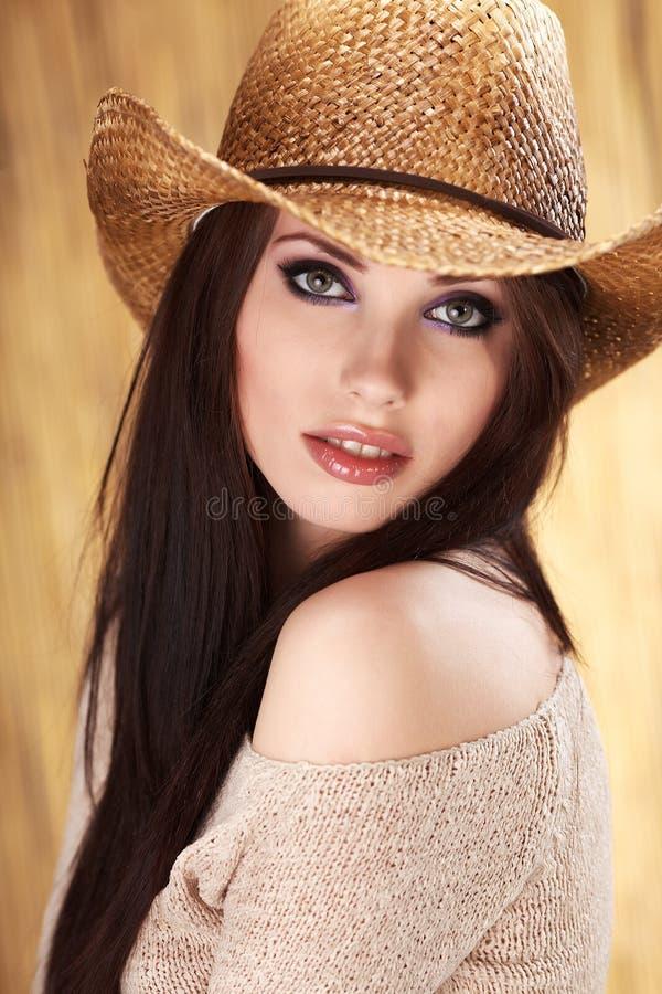 όμορφο cowgirl στοκ φωτογραφίες
