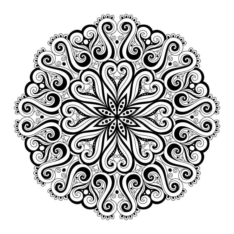 Όμορφο Deco Mandala (διάνυσμα) διανυσματική απεικόνιση