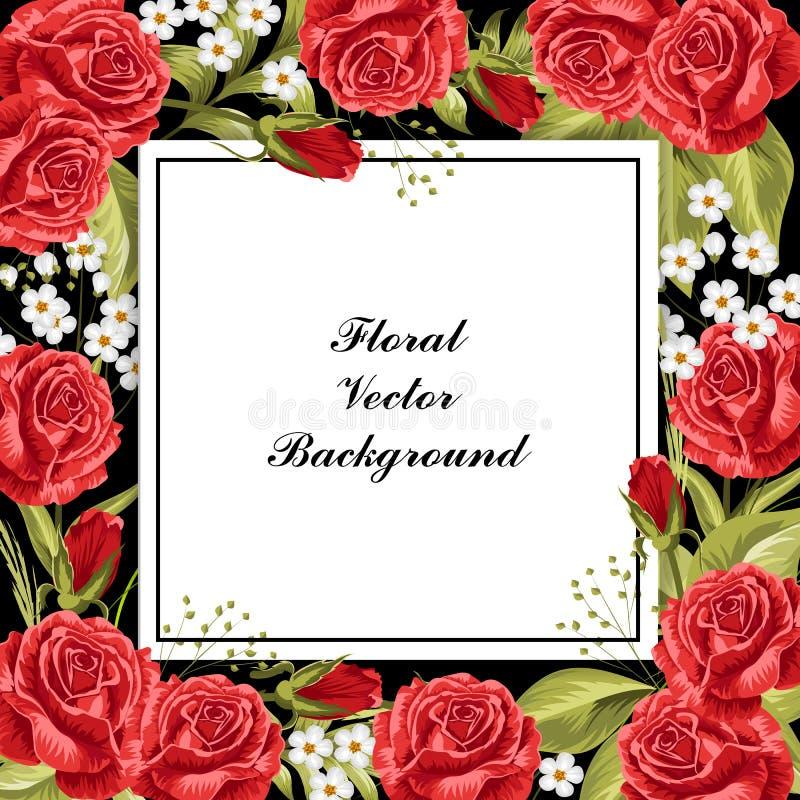 Όμορφο floral πλαίσιο ελεύθερη απεικόνιση δικαιώματος