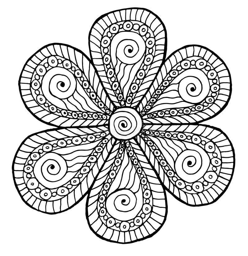 Όμορφο Floral mandala Deco Διανυσματικό στρογγυλό σχέδιο διακοσμήσεων απεικόνιση αποθεμάτων