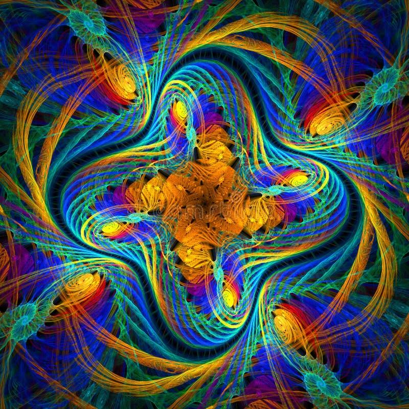 Όμορφο fractal σχέδιο στο ύφος του πλεκτού υφάσματος. Comput διανυσματική απεικόνιση