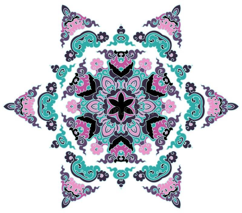 Όμορφο Mandala Στρογγυλό διακοσμητικό σχέδιο στοκ εικόνες