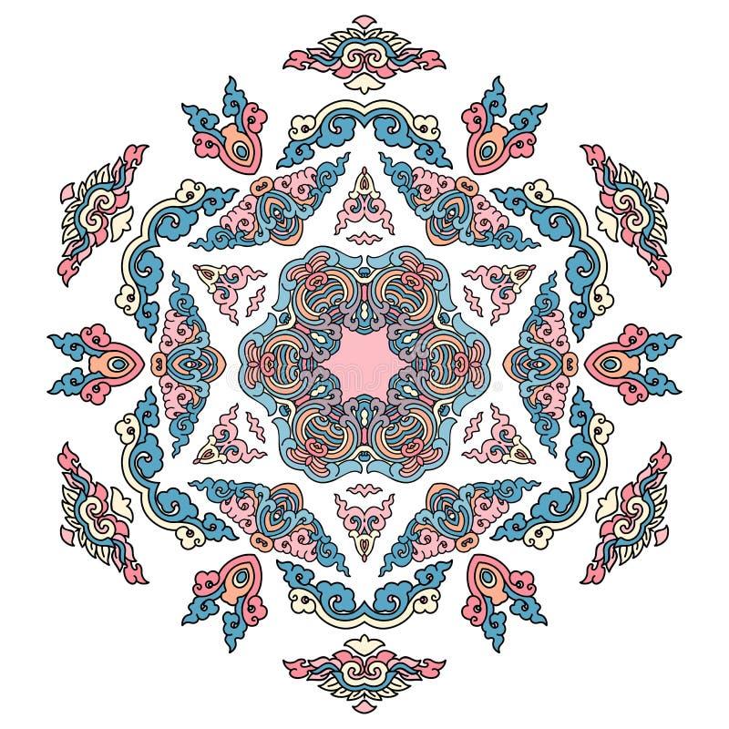 Όμορφο Mandala Στρογγυλό διακοσμητικό σχέδιο απεικόνιση αποθεμάτων