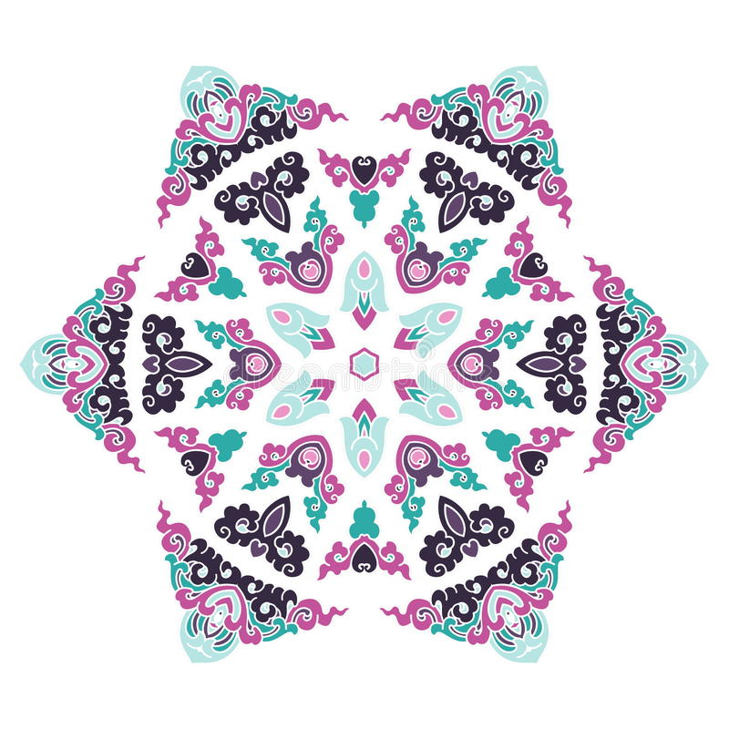 Όμορφο Mandala Στρογγυλό διακοσμητικό σχέδιο ελεύθερη απεικόνιση δικαιώματος