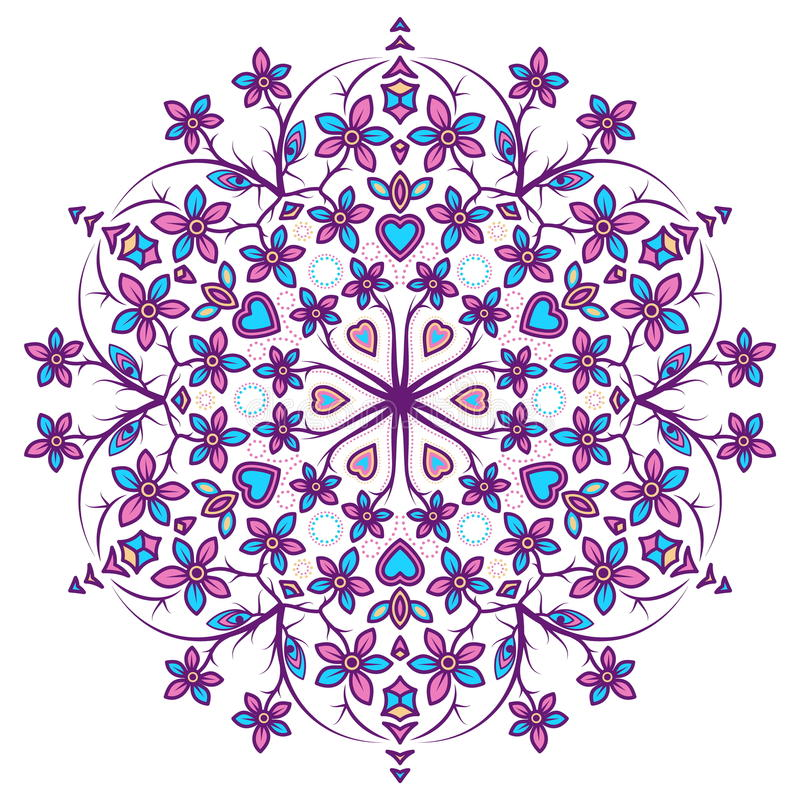 Όμορφο Mandala Στρογγυλό διακοσμητικό σχέδιο στοκ εικόνα