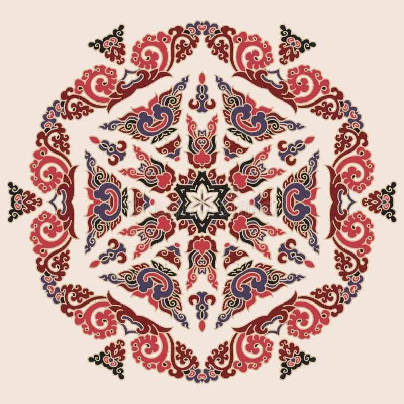 Όμορφο Mandala Στρογγυλό διακοσμητικό σχέδιο στοκ φωτογραφίες με δικαίωμα ελεύθερης χρήσης