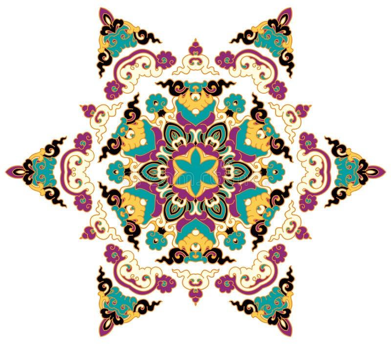 Όμορφο Mandala Στρογγυλό διακοσμητικό σχέδιο στοκ εικόνα με δικαίωμα ελεύθερης χρήσης