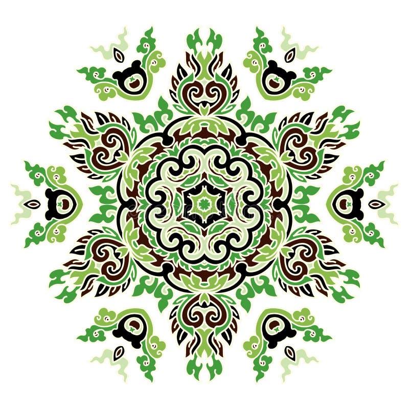 Όμορφο Mandala Στρογγυλό διακοσμητικό σχέδιο στοκ εικόνες με δικαίωμα ελεύθερης χρήσης