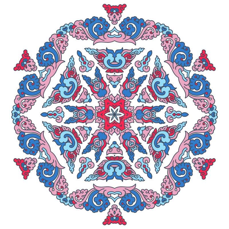 Όμορφο Mandala Στρογγυλό διακοσμητικό σχέδιο στοκ φωτογραφίες