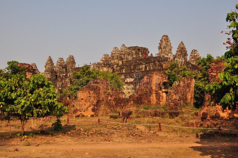 Όμορφο Phnom Bakheng σε Angkor, Καμπότζη στοκ φωτογραφία με δικαίωμα ελεύθερης χρήσης