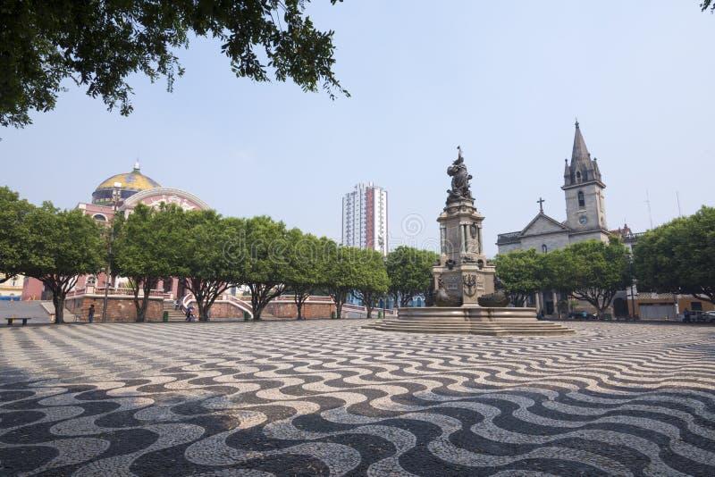 Όμορφο plaza στο Manaus, Amazonas στοκ φωτογραφίες