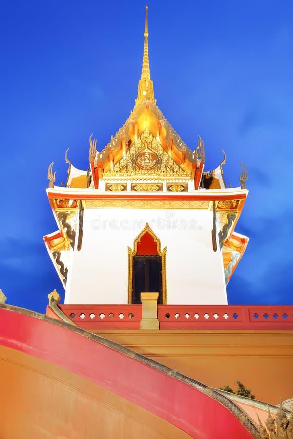 Όμορφο scence παγοδών του Βούδα τη νύχτα στοκ εικόνες με δικαίωμα ελεύθερης χρήσης