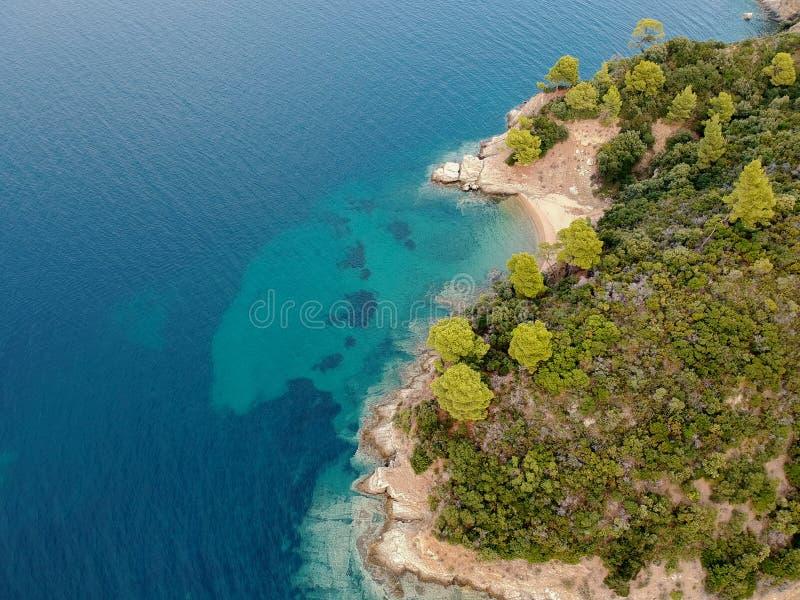 Όμορφο seascape στην Ελλάδα στοκ φωτογραφία