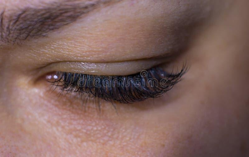 Όμορφων γυναικών eyelashes στοκ εικόνες