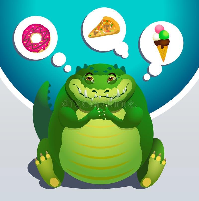 Όνειρα κροκοδείλων για τα τρόφιμα απεικόνιση αποθεμάτων