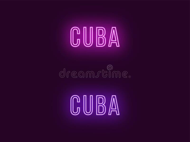 Όνομα νέου της Δημοκρατίας της Κούβας Διανυσματικό κείμενο της Κούβας διανυσματική απεικόνιση