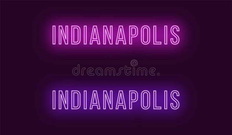 Όνομα νέου της πόλης της Ινδιανάπολης στις ΗΠΑ Διανυσματικό κείμενο ελεύθερη απεικόνιση δικαιώματος