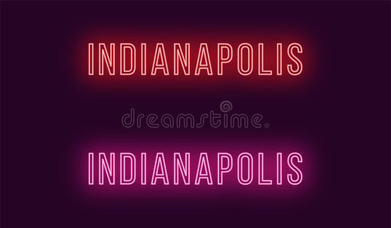 Όνομα νέου της πόλης της Ινδιανάπολης στις ΗΠΑ Διανυσματικό κείμενο απεικόνιση αποθεμάτων