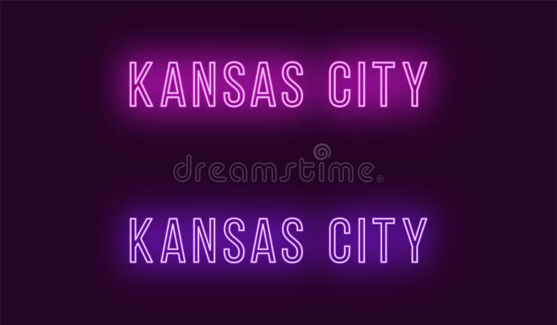 Όνομα νέου της πόλης του Κάνσας στις ΗΠΑ Διανυσματικό κείμενο απεικόνιση αποθεμάτων