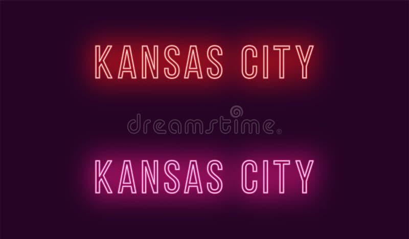 Όνομα νέου της πόλης του Κάνσας στις ΗΠΑ Διανυσματικό κείμενο ελεύθερη απεικόνιση δικαιώματος