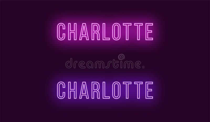 Όνομα νέου της πόλης του Σαρλόττα στις ΗΠΑ Διανυσματικό κείμενο ελεύθερη απεικόνιση δικαιώματος